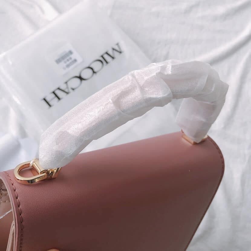 Túi đeo chéo hai màu nắp vuông Micocah cực xinh