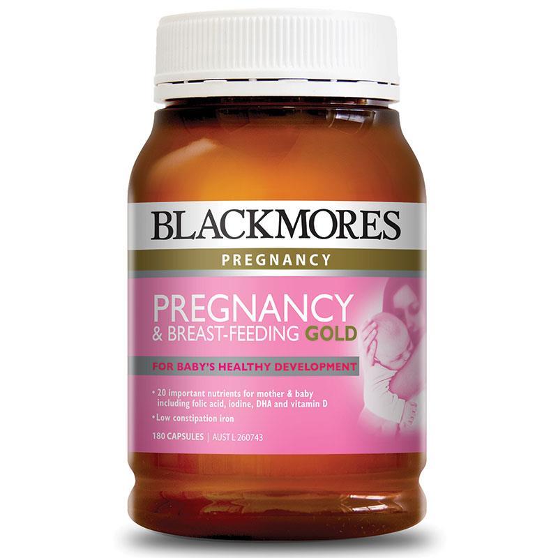 Viên uống Vitamin cho Mẹ bầu và Mẹ cho con bú Blackmores Pregnancy Breast Feeding Gold