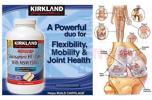 Viên uống bổ khớp Kirkland Signature Glucosamine HCL 1500 mg with MSM 1500 mg Mỹ giúp ngăn ngừa thoái hóa xương khớp