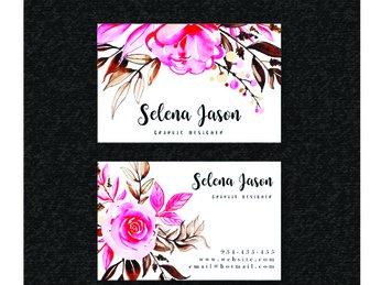 Mẫu namecard dành cho shop hoa và thời trang