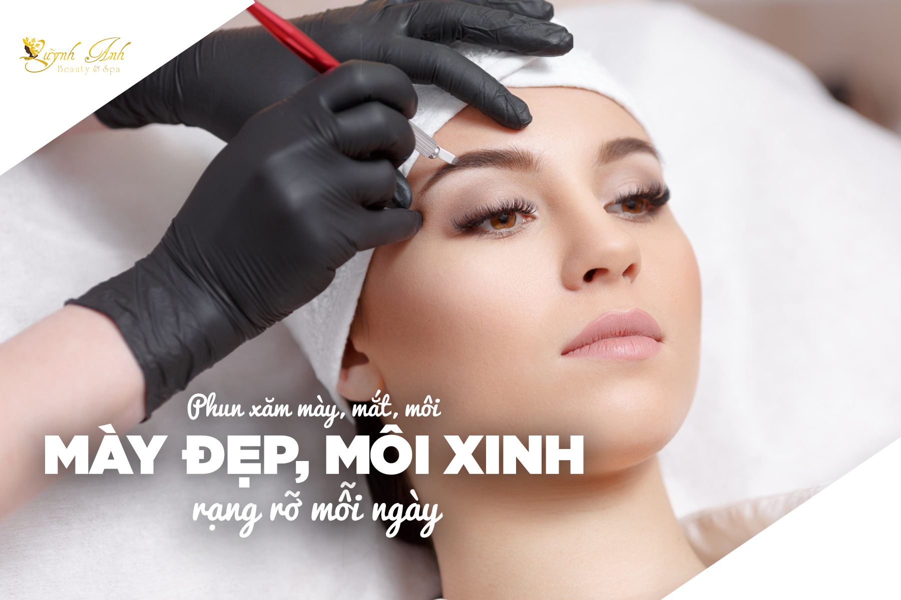 Phun xăm là hình thức phun màu lên da, áp dụng cho môi, lông mày\u2026để tạo màu sắc, cải thiện hình dáng và tạo điểm nhấn trên gương mặt.
