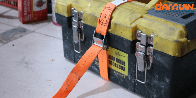 Dây chằng hàng khóa cam bản 25 dài 3m giúp ràng hộp đồ chắc chắn