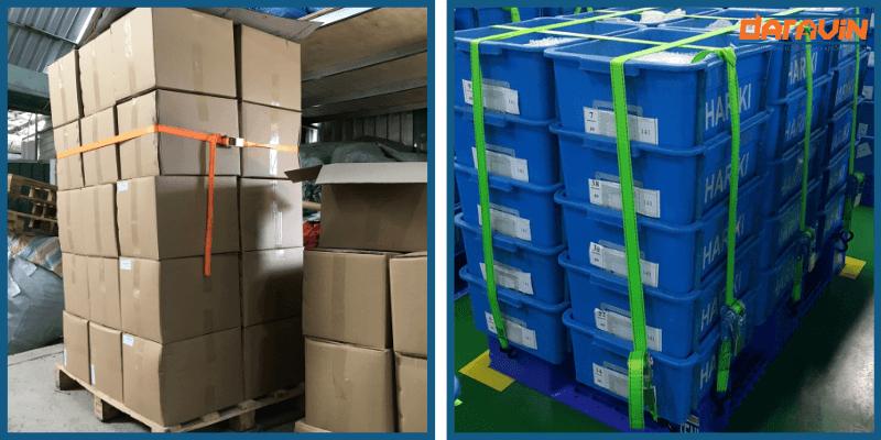 Dây chằng hàng tăng đơ bản 25 dài 8m tải 800kg cố định tốt các loại hàng hóa trên pallet
