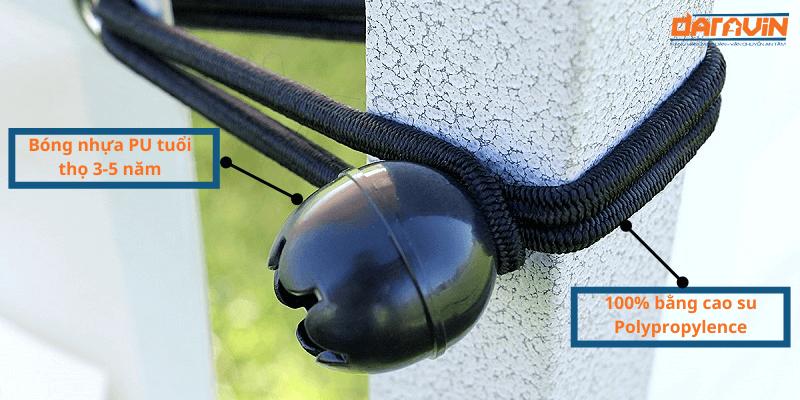 Ưu điểm của dây thun buộc nhanh ball bungee phi 4 dài 25cm