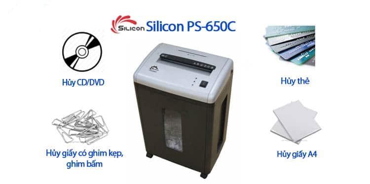 Máy Hủy Giấy SILICON PS-650C