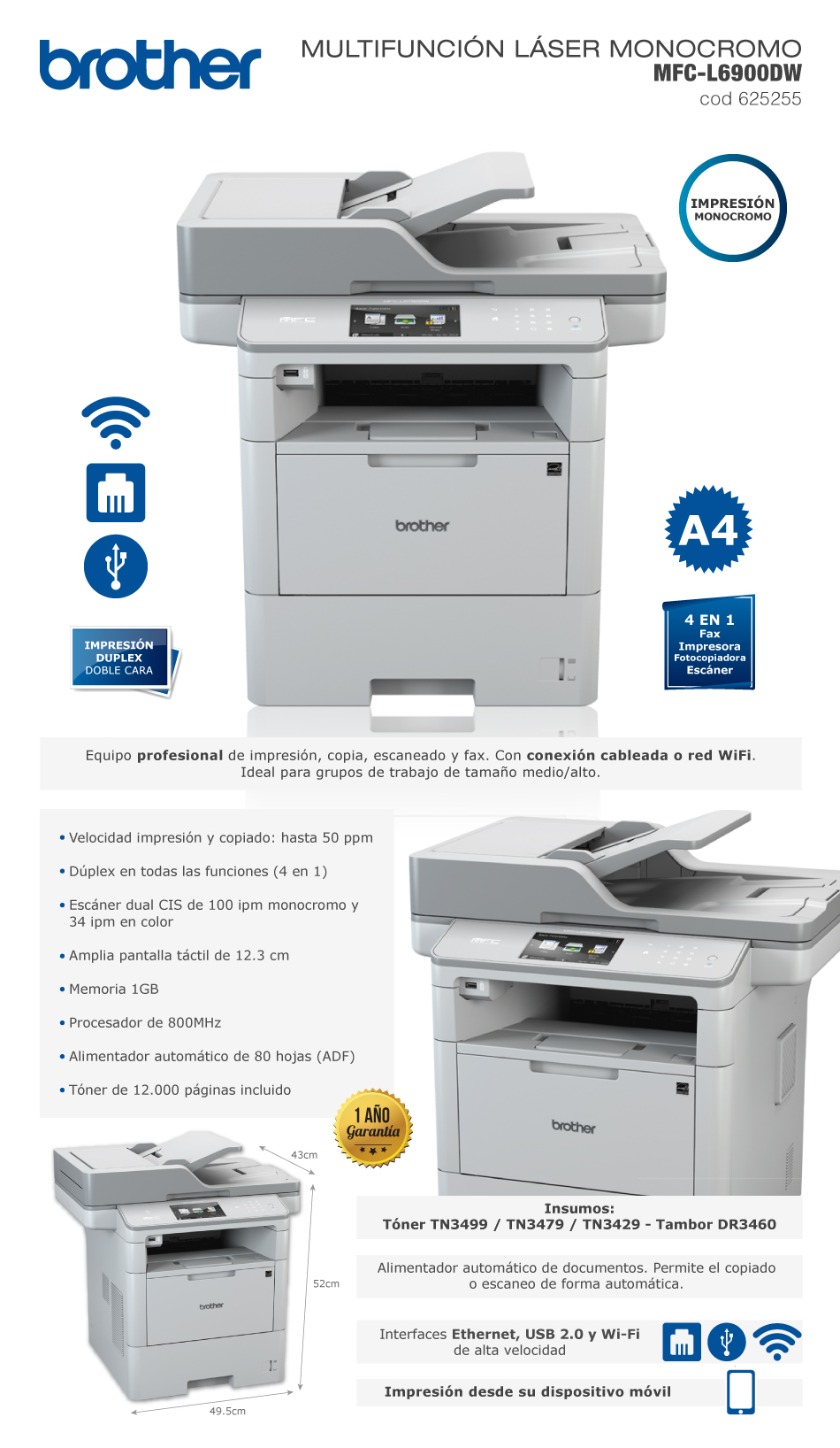 Brother  MFC–L6900DW