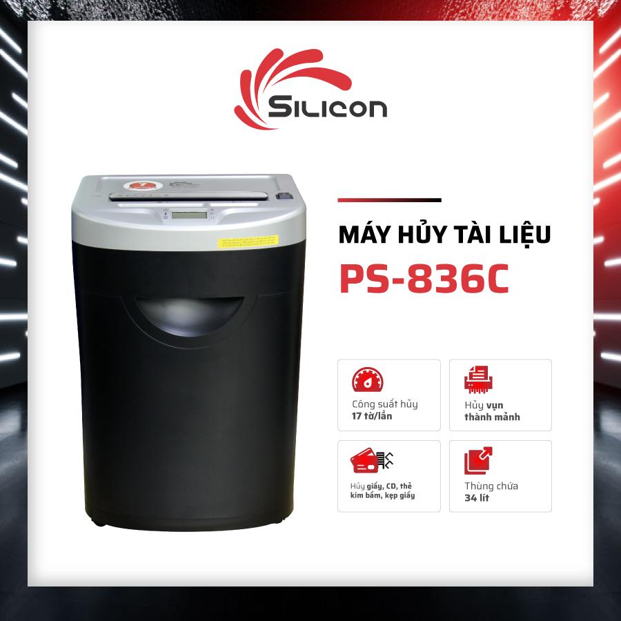 Máy Hủy Giấy SILICON PS-836C