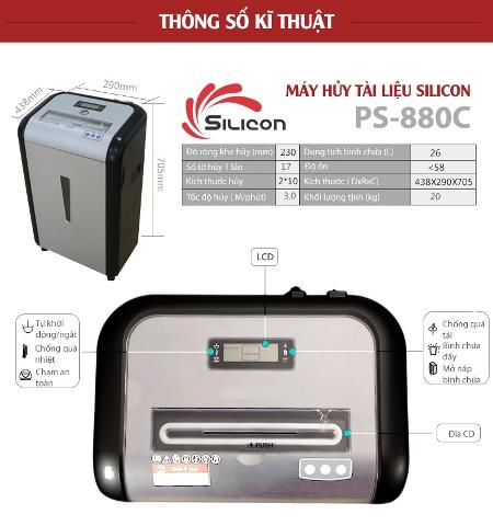 Máy Hủy Giấy SILICON PS-880C