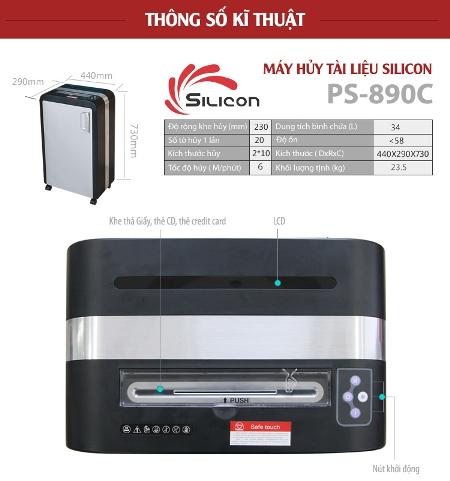 Máy Hủy Giấy SILICON PS-890C