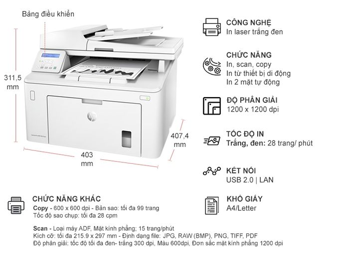 HP Laser Pro MFP M227SDN