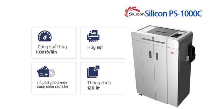 Máy Hủy Giấy SILICON PS-1000C