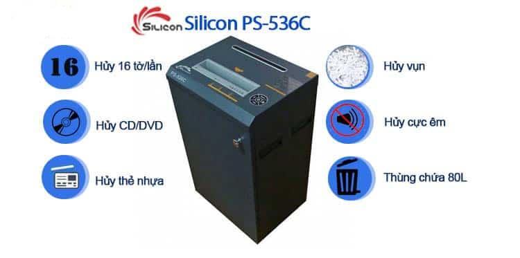 Máy Hủy Giấy SILICON PS-536C