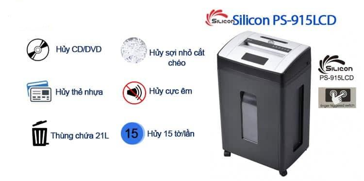 Máy Hủy Giấy SILICON PS-915LCD