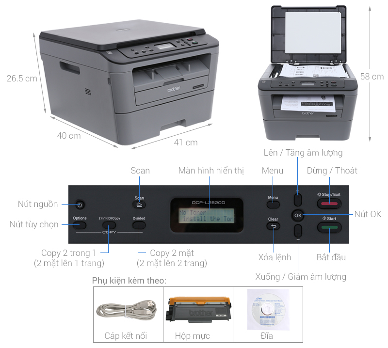 Brother  DCP–L2520D