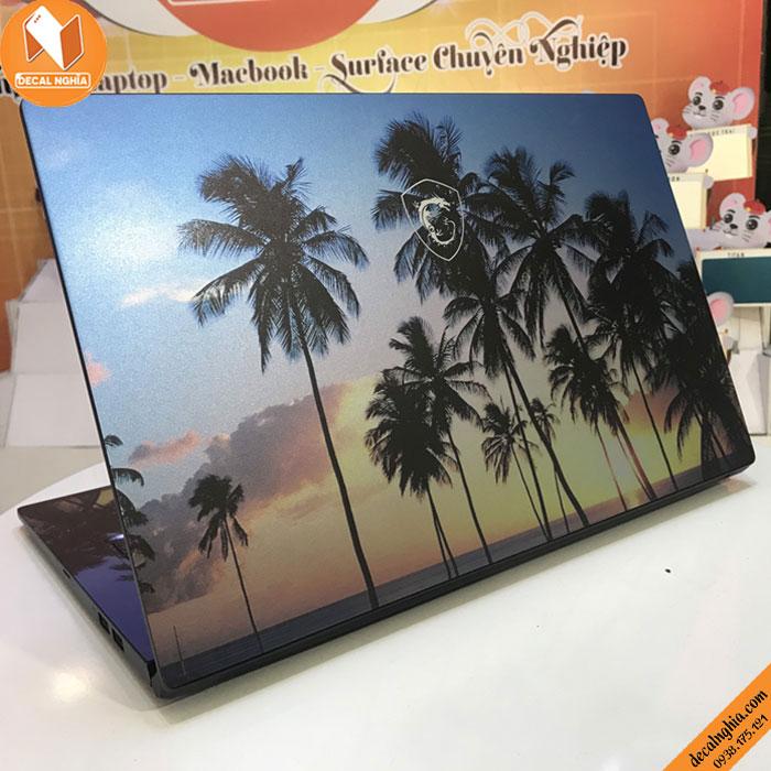 Aluminum skin dán laptop MSI 14 B11M