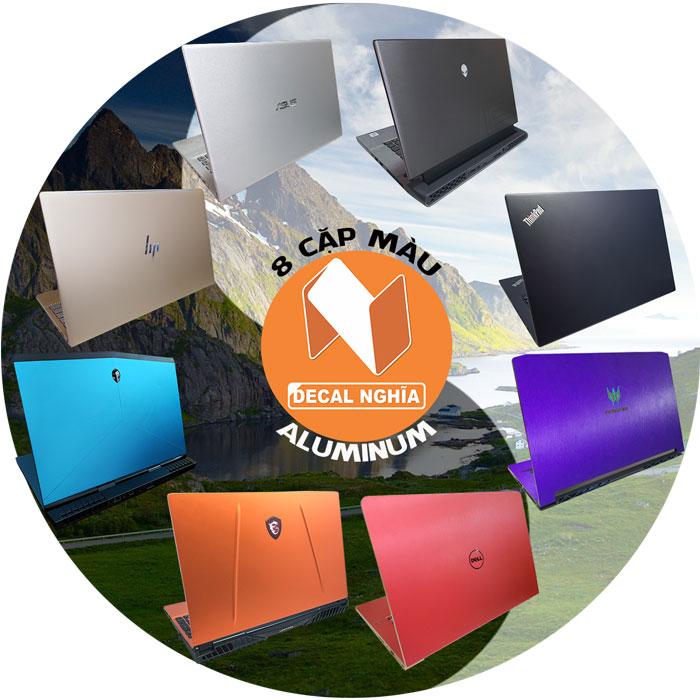 8 cặp màu cơ bản dán laptop