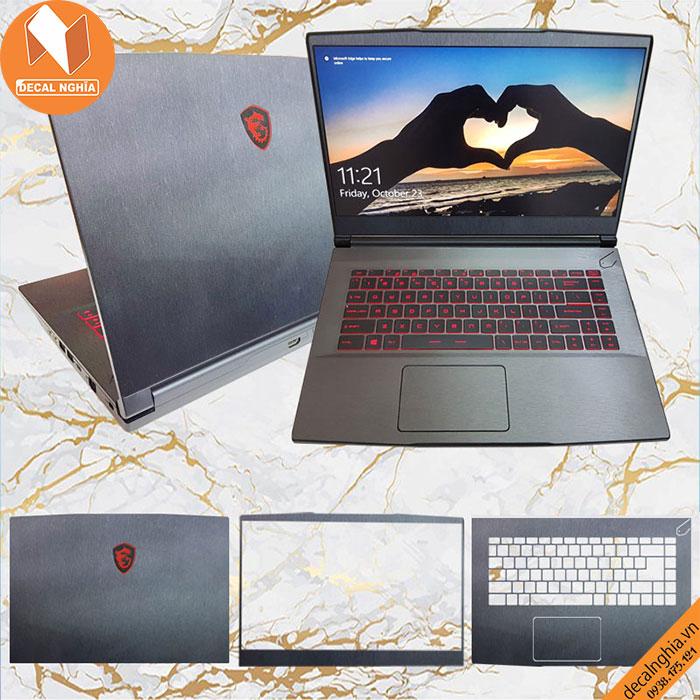 Aluminum dán laptop MSI GF63