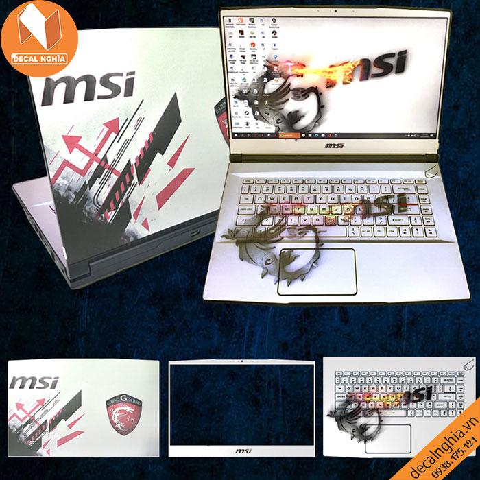 Aluminum skin dán laptop MSI GF63