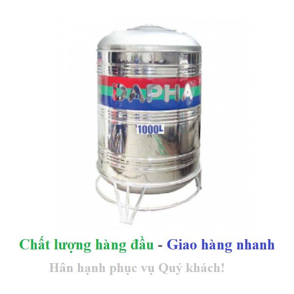 Bồn nước inox Dapha xuất khẩu đứng 2000L