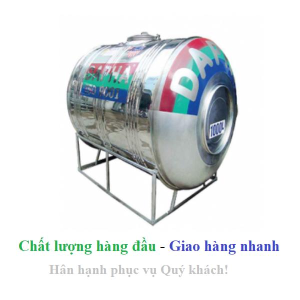 Bồn nước inox Dapha xuất khẩu nằm 500L