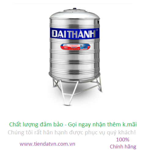 Bồn nước inox Đại Thành 500L Đứng | tiendatvn.com.vn