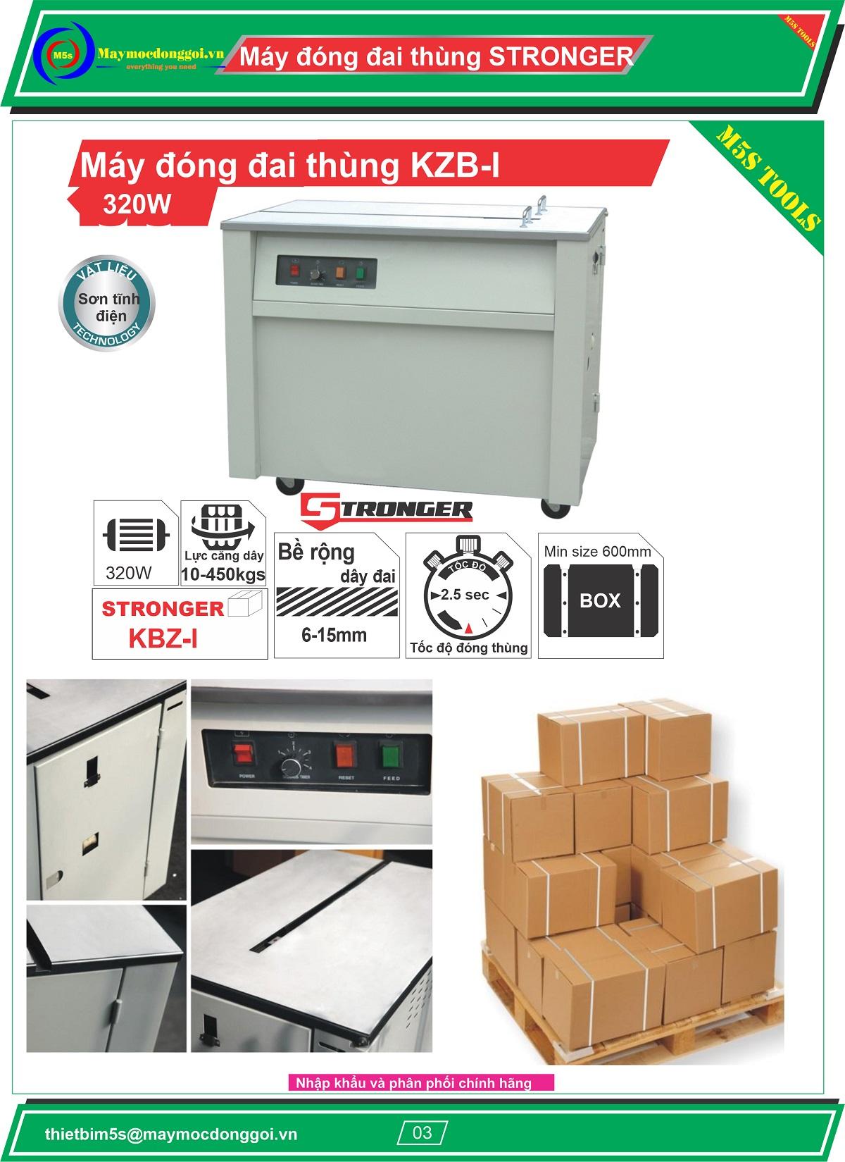 Máy đóng đai thùng bán tự động KZB-1