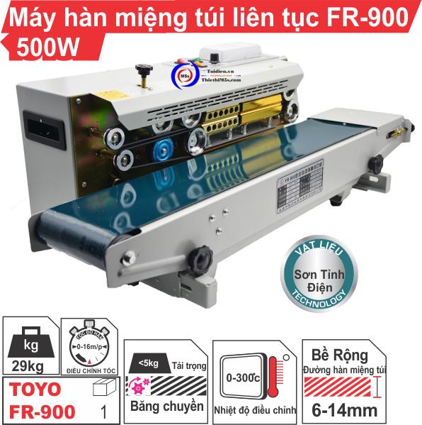 Máy hàn miệng túi liên tục FR-900 500W
