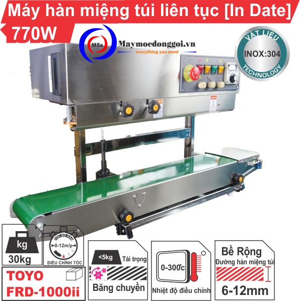 Máy hàn miệng túi liên tục dạng đứng Indate FRD-1000 II chất lượng cao