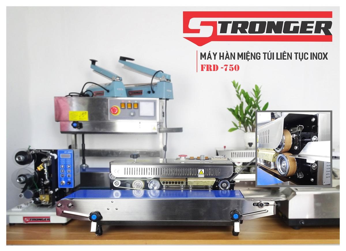 Máy hàn miệng túi liên tục Stronger FRD-750-IN vỏ inox
