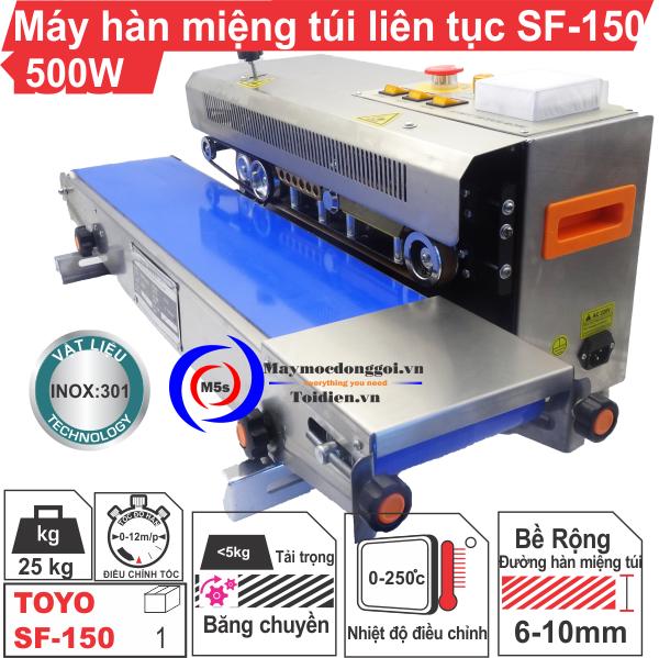 [ MÁY HÀN MIỆNG TÚI LIÊN TỤC SF-150 ] Nhập khẩu và phân phối thiết bị đóng goi