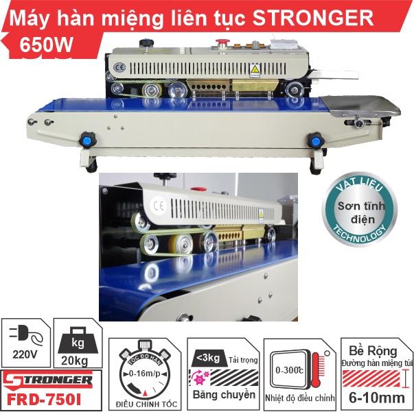 Máy hàn miệng túi liên tục Stronger FRD-750-VSvỏ sơn tĩnh điện
