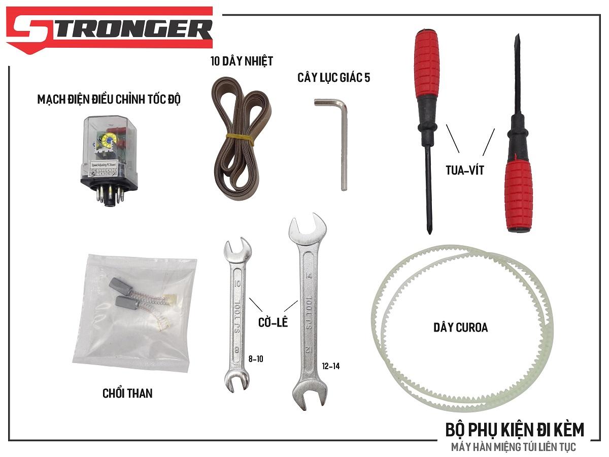 Phụ kiện máy hàn miệng túi liên tục Stronger FRD-750 vỏ inox