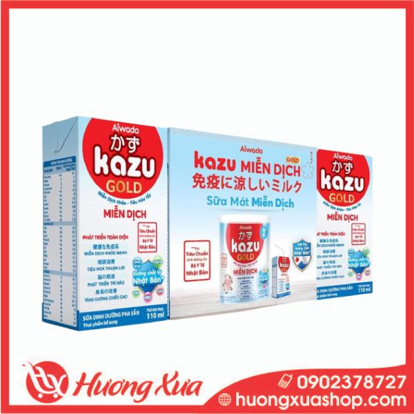 Sữa Dinh Dưỡng Pha Sẵn Kazu Miễn Dịch Gold Hộp 110ml