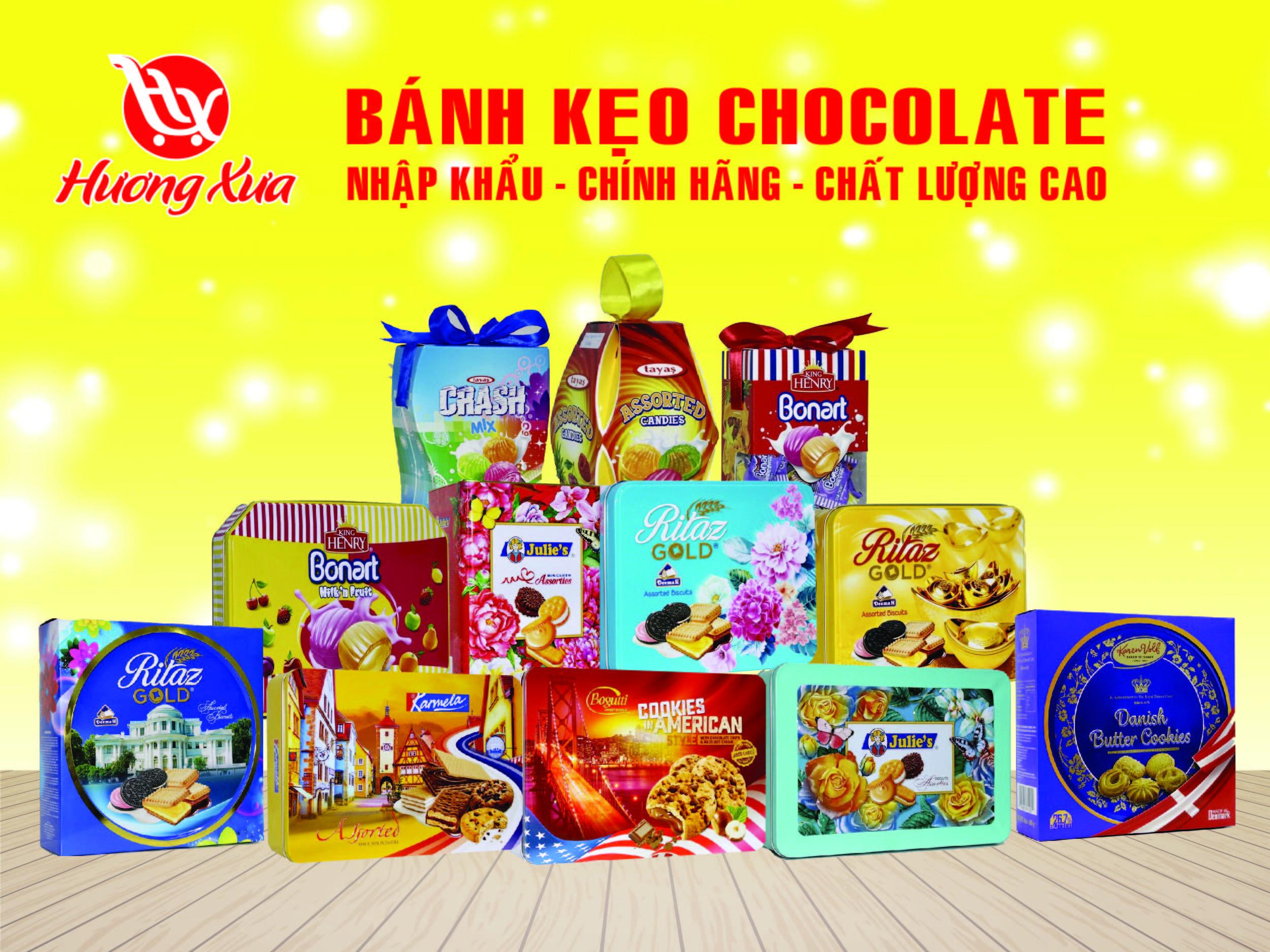 Hương Xưa Shop cung cấp Bánh Kẹo Chocolate Nhập Khẩu