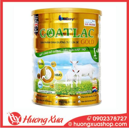 Sữa Dê GOATLAC Gold 1+ - Mát lành bổ dưỡng, tiêu hóa vượt trội