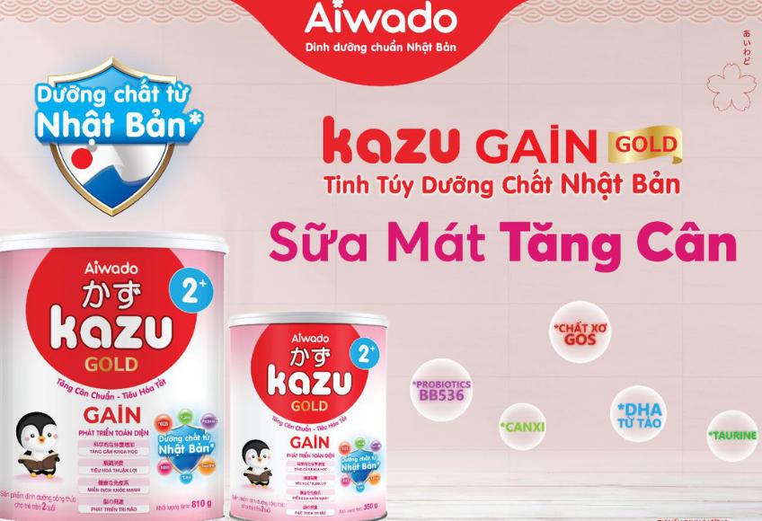 Quà Tặng Siêu Hot Từ Sữa Mát Tăng Cân Kazu Gain Gold