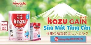 Chương trình săn quà CỰC HOT khi mua sữa Kazu Gain Gold T6/2021