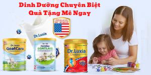 Mua sữa Dr-Luxia nhận quà đặc biệt