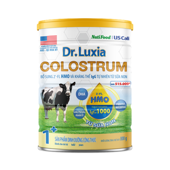 Sữa Dr.Luxia Coslostrum 1+ (từ 1-2 Tuổi)  800g-  kháng thể 2'-FL HMO & IgG