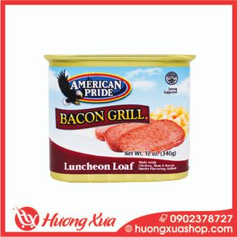 Thịt hộp xông khói Pride Bacon Grill 340g