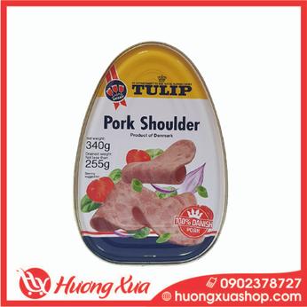 Thịt heo hộp Tulip Pork Shoulder 340g