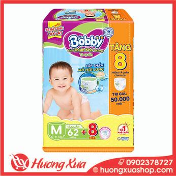 Tã quần Bobby Đại  M (62 miếng)