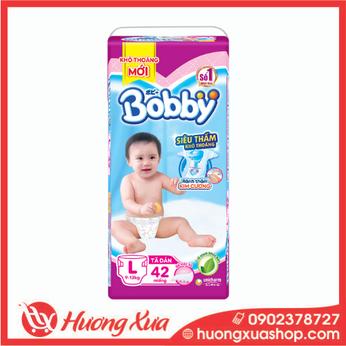 Tã dán Bobby Trung L (42 miếng)