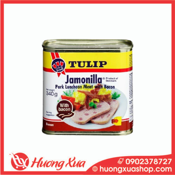 Thịt heo hộp Tulip Jamonilla Pork Luncheon Meat with Bacon 340g