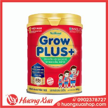Sữa GrowPlus+ đỏ - dinh dưỡng hiệu quả cho trẻ suy dinh dưỡng , thấp còI 900g