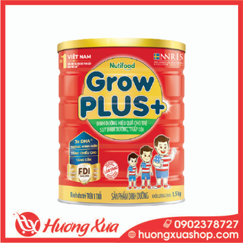 Sữa GrowPlus+ đỏ - dinh dưỡng hiệu quả cho trẻ suy dinh dưỡng, thấp còI 1,5kg