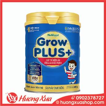 Sữa GrowPlus+ xanh - giúp trẻ biếng ăn tăng cân khỏe mạnh 900g