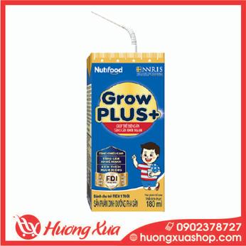 Sữa GrowPlus+ xanh - giúp trẻ biếng ăn tăng cân khỏe mạnh 180ml thùng