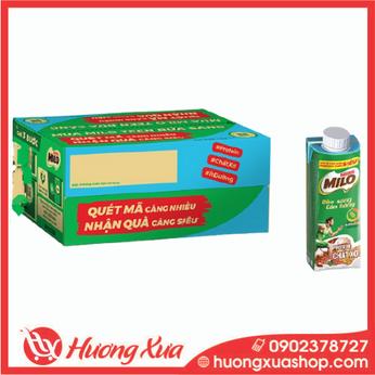Sữa lúa mạch Nestlé® MILO® Teen Bữa Sáng thùng 24 hộp x 200 ml (24x200ml)