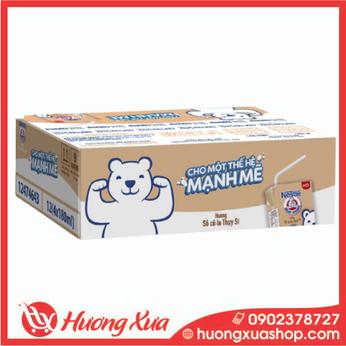 Thùng 48 hộp sữa Nestle Gấu hương sô cô la Thụy Sĩ (48x180ml)